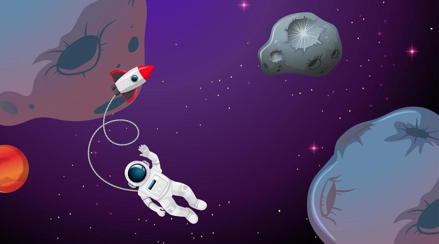 Ein Astronaut im Weltraum