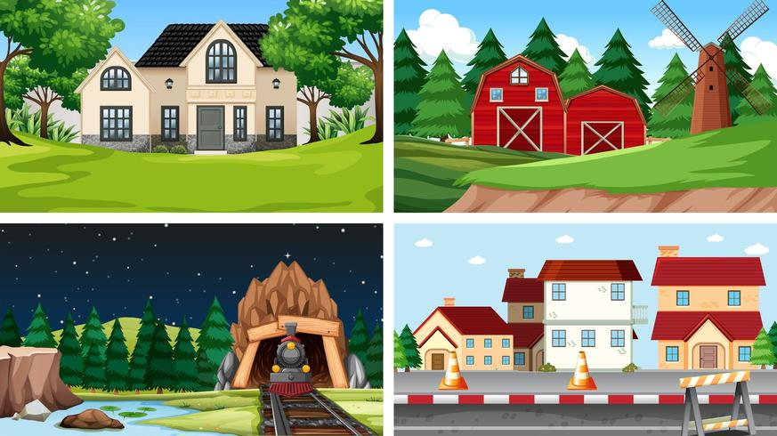 Set of different backgrounds vector