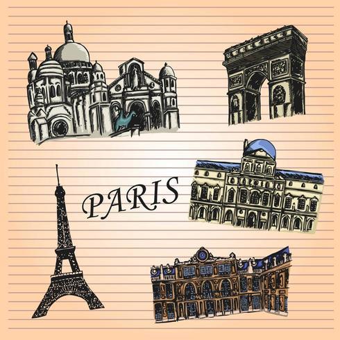 Carnet de croquis Paris vecteur