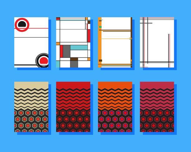 Diseños geométricos de portadas vector