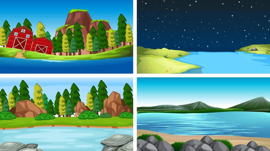 Set of different backgrounds