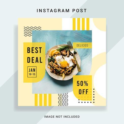 Design de modelo de postagem de Instagram de mídia social vetor