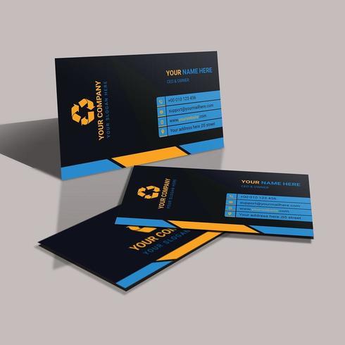 Modèle de carte de visite bleu entreprise