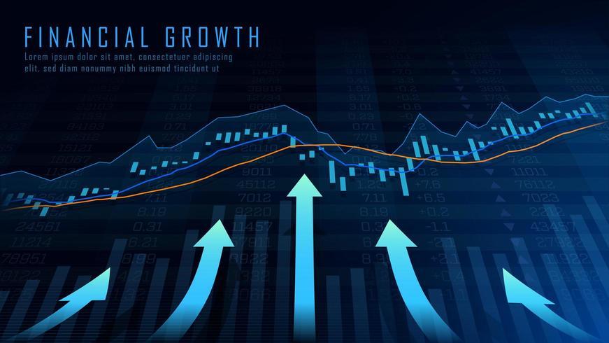 Arte conceptual del crecimiento financiero vector