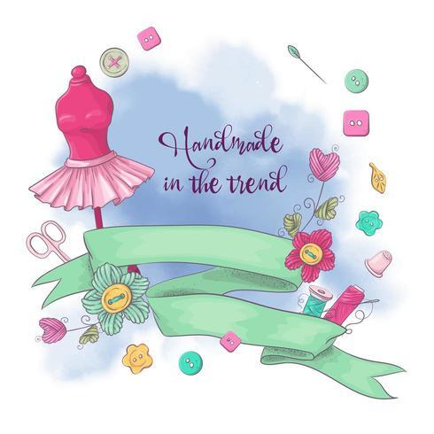 Logo voor het breien van handwerken