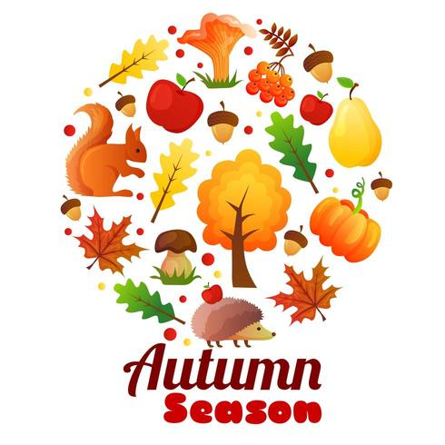 saison d'automne guirlande ronde