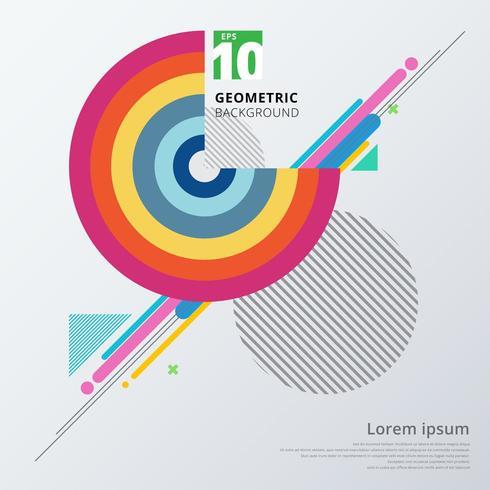 Geometrisk mall för abstrakt färgrik färgcirkel vektor