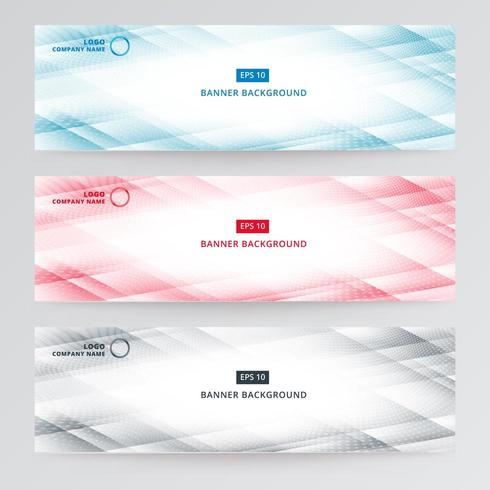 Banner web template abstract modern  vector
