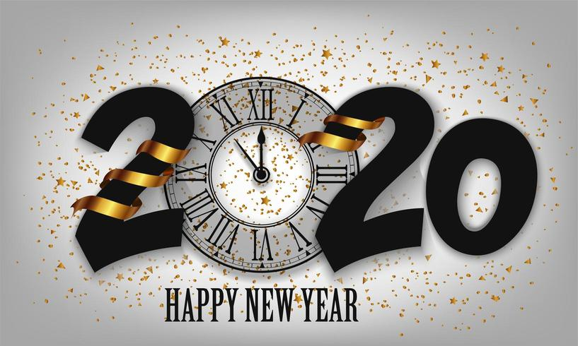 New Year Typographical Creative Background 2020
