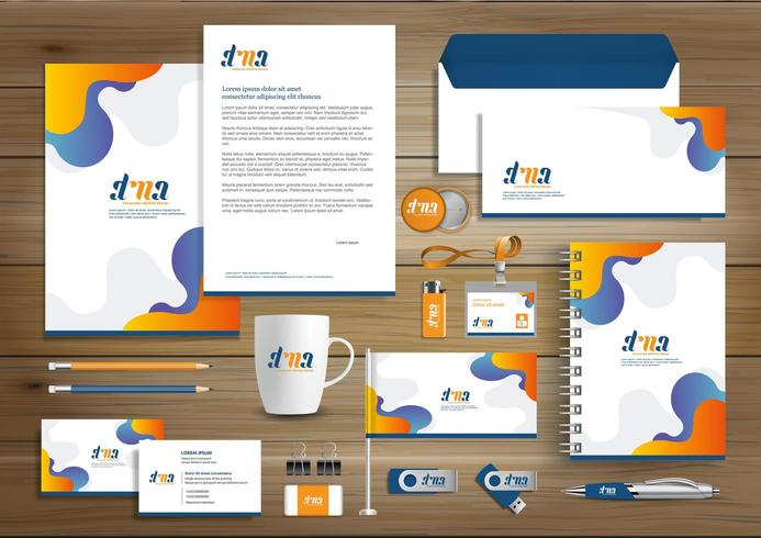 Mall för design för företagsidentitet vektor