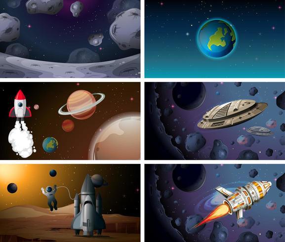 Set di sfondo dello spazio