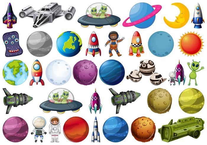 Conjunto de elemento espacial