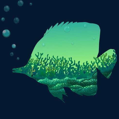 Save wildlife design with fish