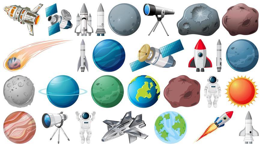 Conjunto de elemento espacial vector