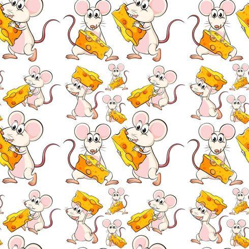 Nahtlose Maus mit Käse
