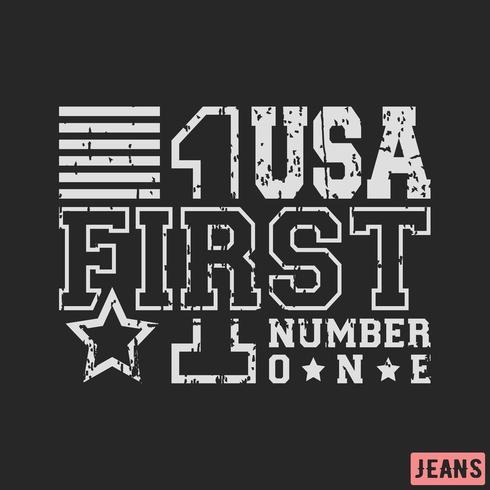 Timbro vintage USA
