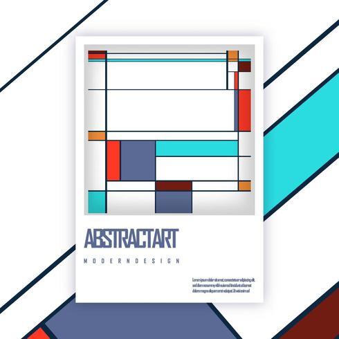 Plantilla de portada de folleto vector