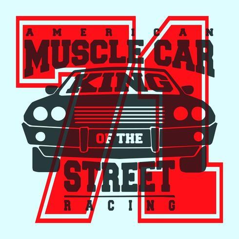 American muscle car t shirt print design vector