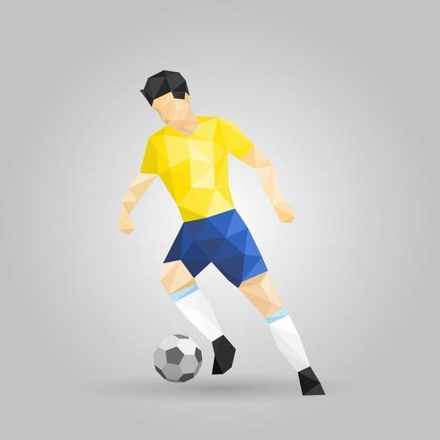 Futebol geométrico drible vetor