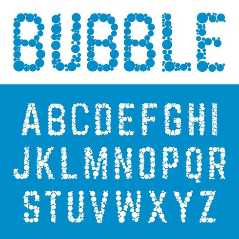 Alfabet zeepbel lettertype sjabloon. vector