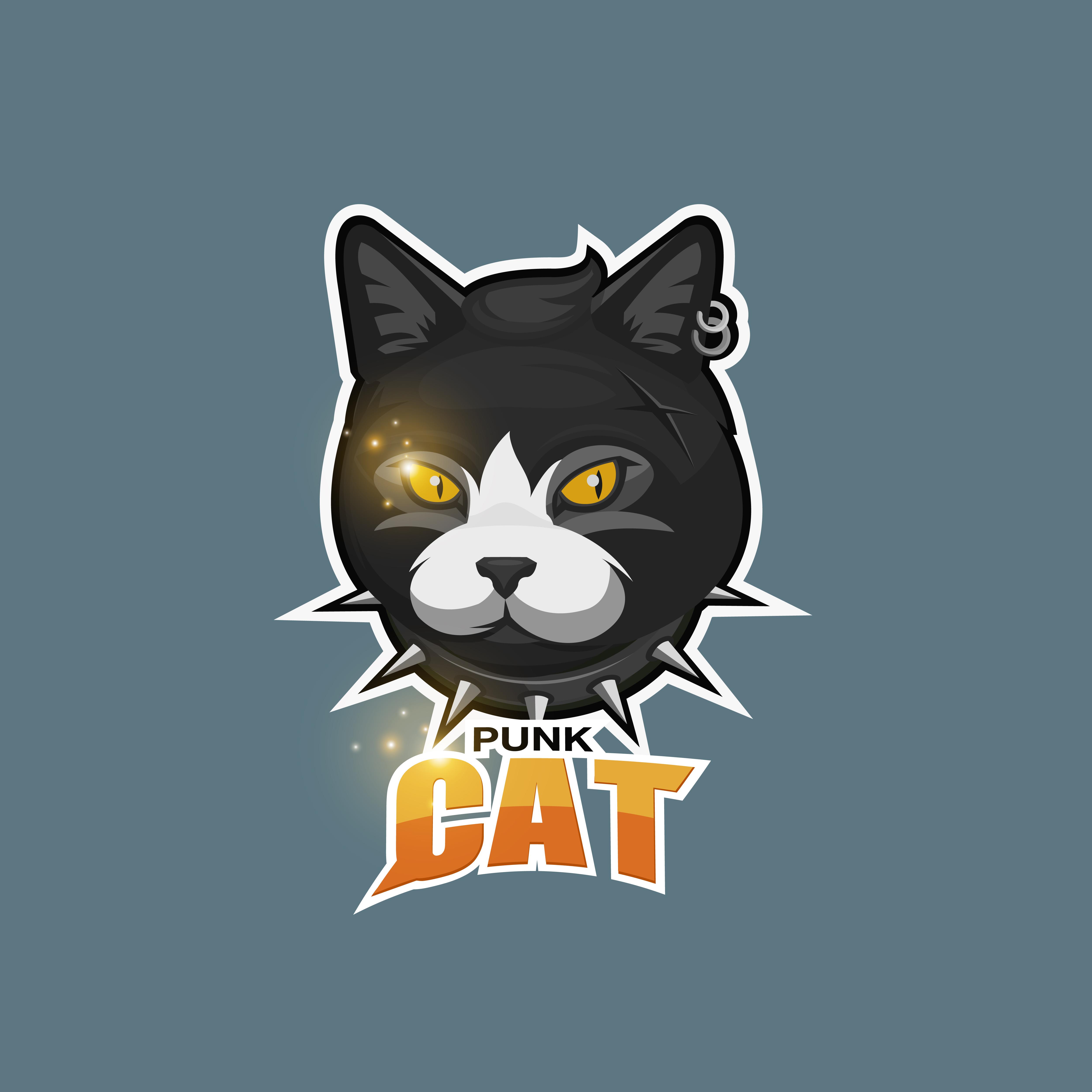 Punk Cat Logo Download Free Vectors Clipart Graphics Vector Art