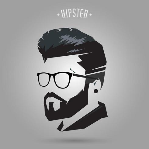 coupe de cheveux hipster vecteur