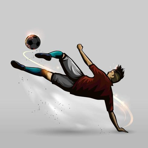 futebol no chão vetor