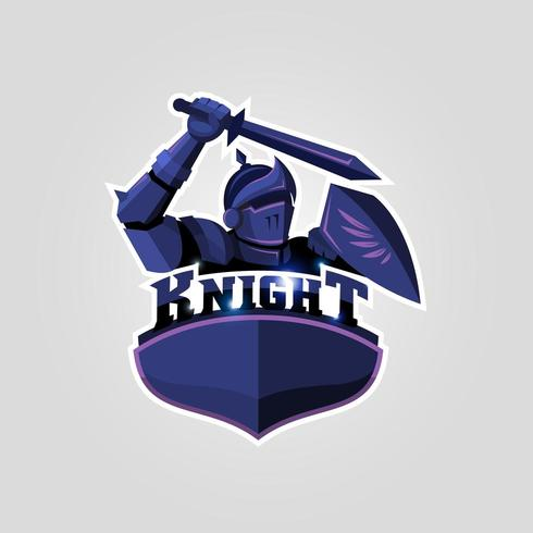 cavaleiro logotipo esport vetor