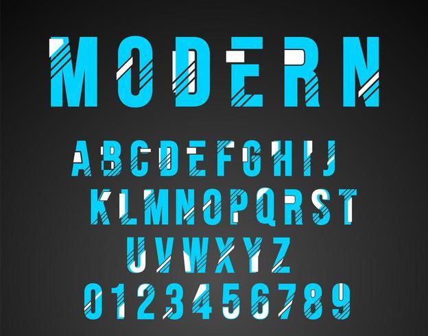 Alfabet lettertype modern design vector