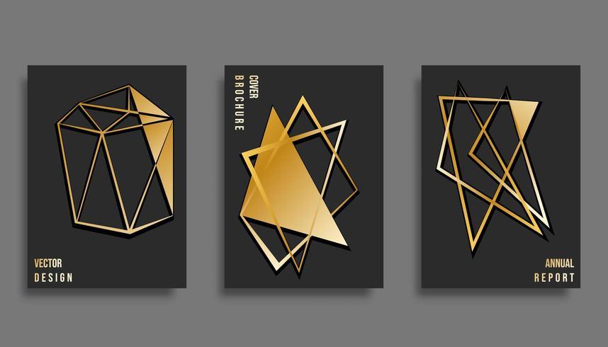 Conjunto de diseño de plantilla de portada abstracta. Ilustración vectorial vector