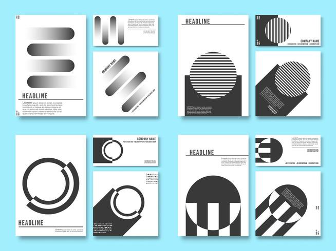 Minimal geometric design background for printing products vector