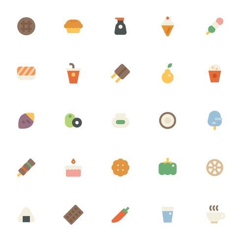 Insieme di raccolta dell'icona di cibo.