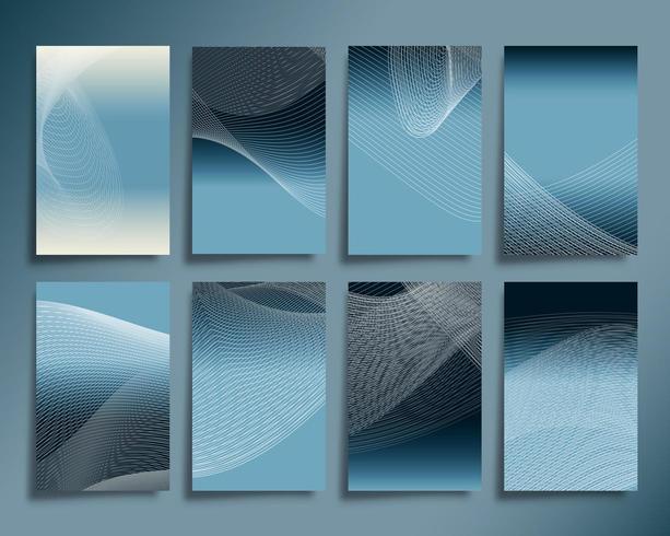 Abstracte lijngolven met gradiëntontwerp als achtergrond vector