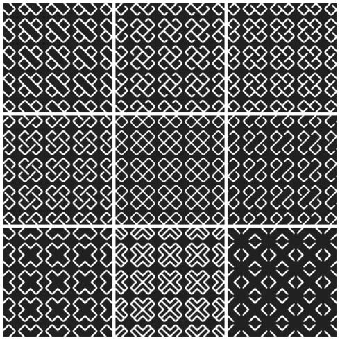 Black and white cross seamless background vector