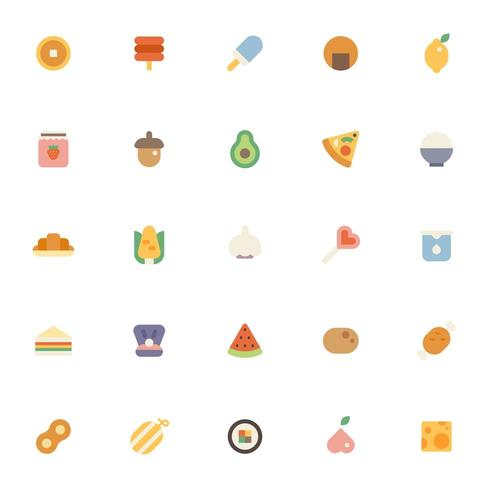 Various food icon set.