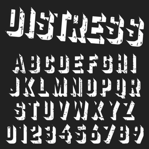 Ruwe alfabet lettertypesjabloon vector