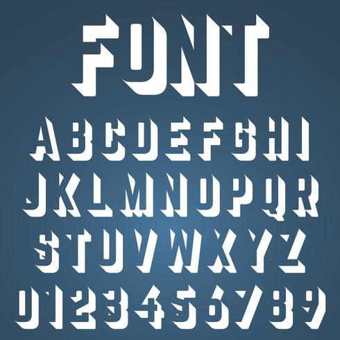 Fonte incompleta do alfabeto