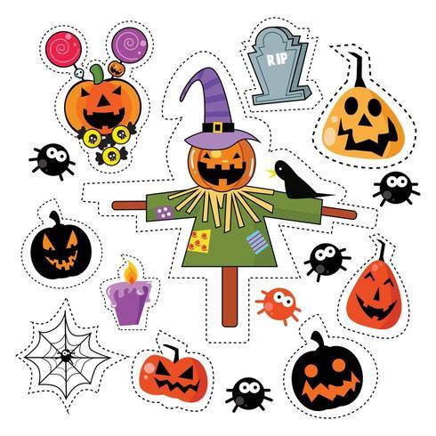 Set di patch adesivo icona di Halloween