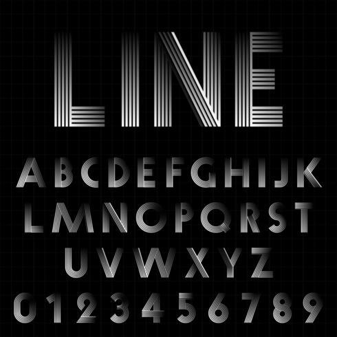 Modello di carattere linea design