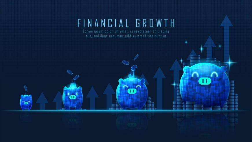 Concept art of financial growth vector