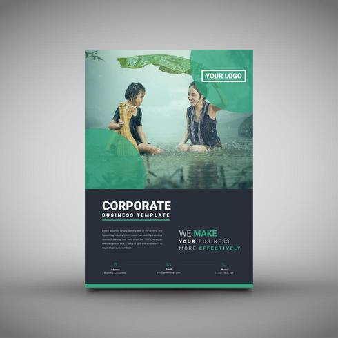 Green Themed Business Corporate Flyer Template