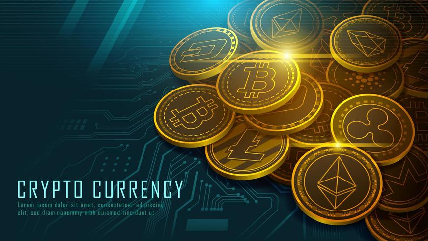 Cryptocurrency koncept