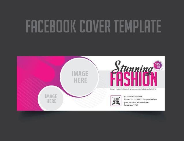 Mode Facebook voorbladsjabloon vector