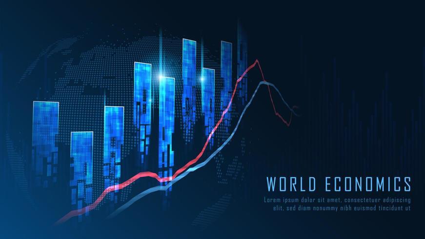 Mercado de ações ou conceito de gráfico de negociação forex
