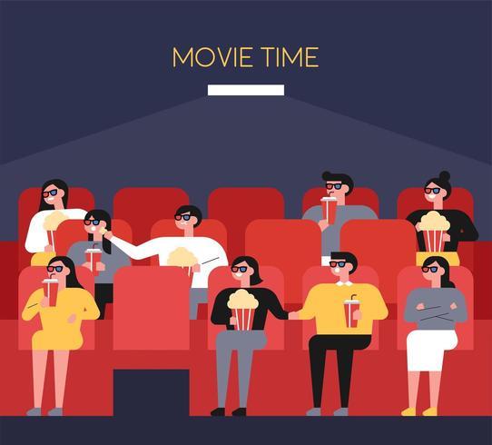 Mensen in het theater vector