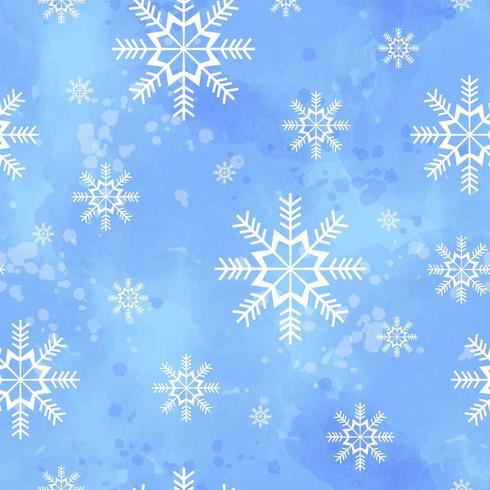 Winter naadloze patroon met sneeuwvlokken vector