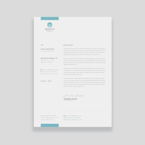 Zakelijk Briefpapier Template Design vector
