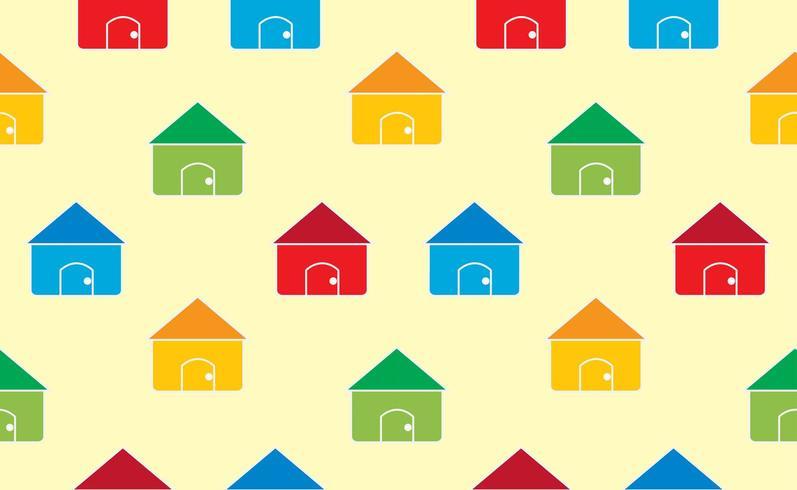 Huizen naadloze patroon achtergrond vector