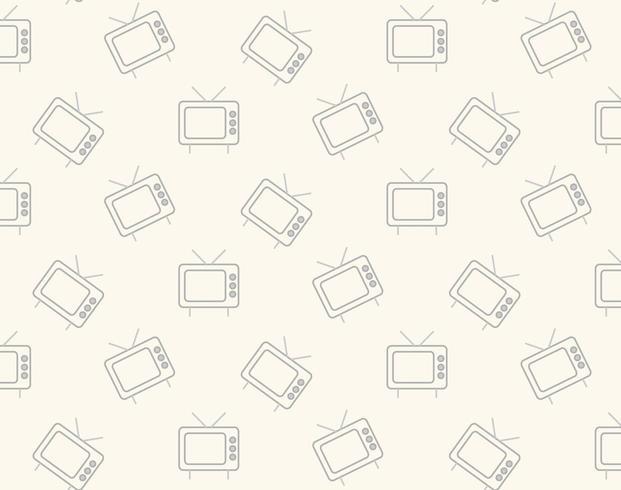 Retro tv pictogram patroon vector