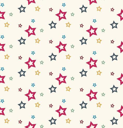 Kleurrijk sterrenpatroon vector